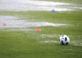 soccer ball in rain